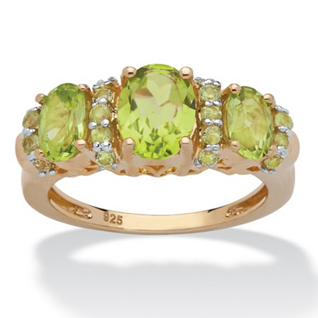 2.46 CT TW Peridot Ring in 14K Gold over Sterling Silver