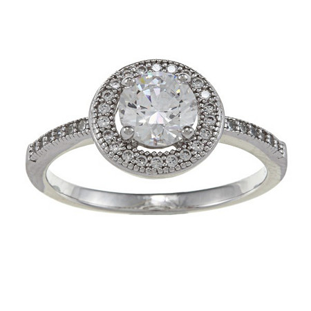 1 CTW Round Cubic Zirconia Ring in Sterling Silver