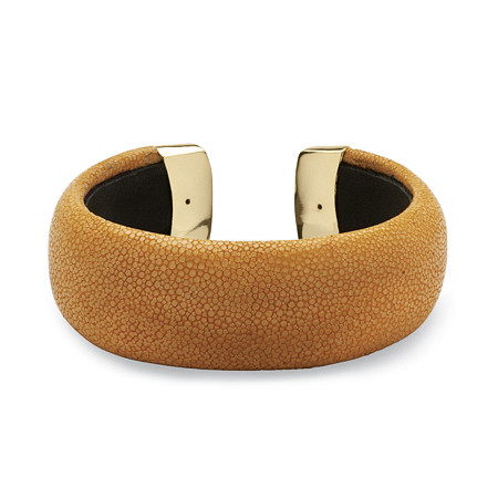 Rust Stingray Cuff Bracelet in Yellow Gold Tone
