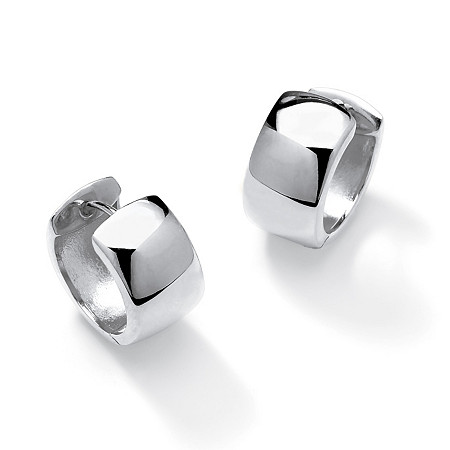 Huggie Hoop Earrings in Sterling Silver