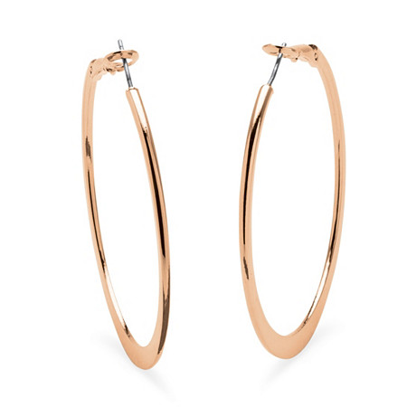Hoop Earrings in Rose Gold-Plated With Surgical Steel Posts