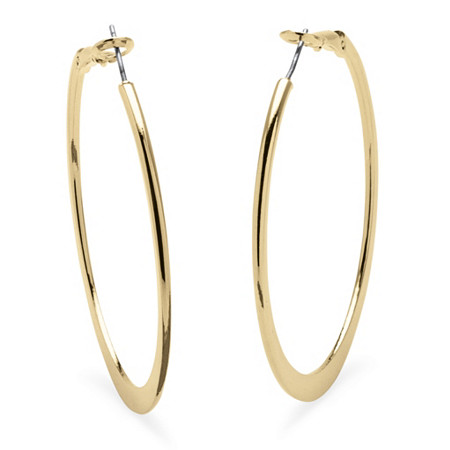 Hoop Earrings in 18k Gold-Plated With Surgical Steel Posts