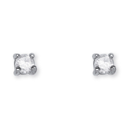 1/10 TCW Diamond Stud Earrings in Sterling Silver