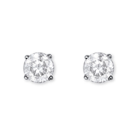 1/2 TCW Diamond Stud Earrings in Sterling Silver