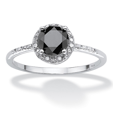 1 TCW Black Diamond Ring in Sterling Silver