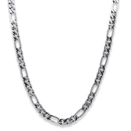 Men's Figaro-Link Chain in Silvertone 30