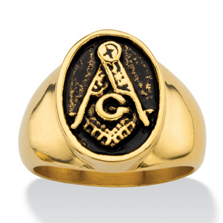 Men's Mason Ring in Gold IP Stainless Steel