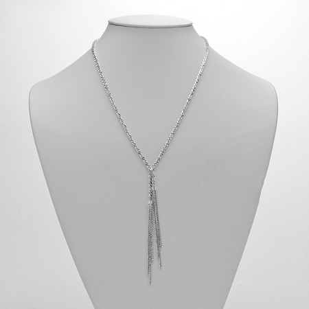 Diamond-Cut Tassle Necklace in Sterling Silver