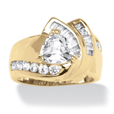 3.34 TCW Cubic Zirconia Ring in 14k Gold-Plated