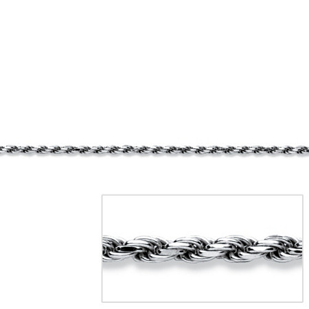 Rope Chain in Sterling Silver 16