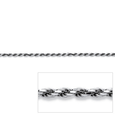Rope Chain in Sterling Silver 20