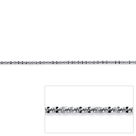 Diamond-Cut Link Chain in Sterling Silver 18