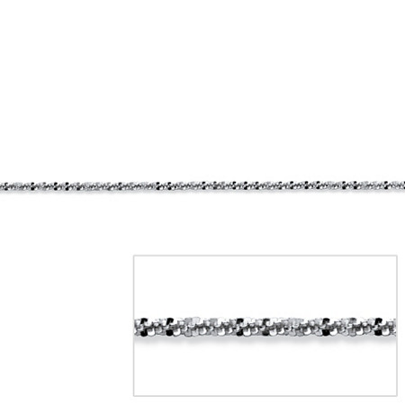 Diamond-Cut Link Chain in Sterling Silver 24