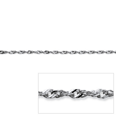 Singapore Link Chain in Sterling Silver 16