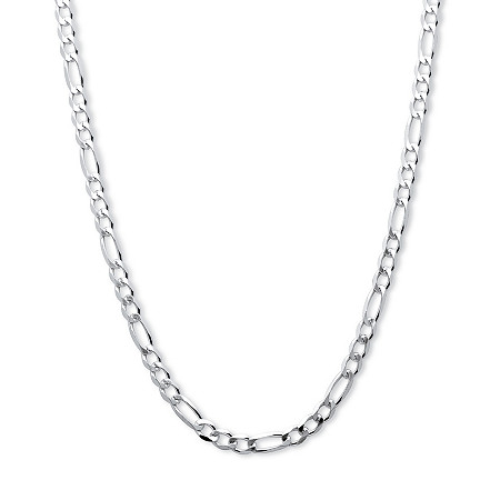 Figaro Link Chain in Sterling Silver 20