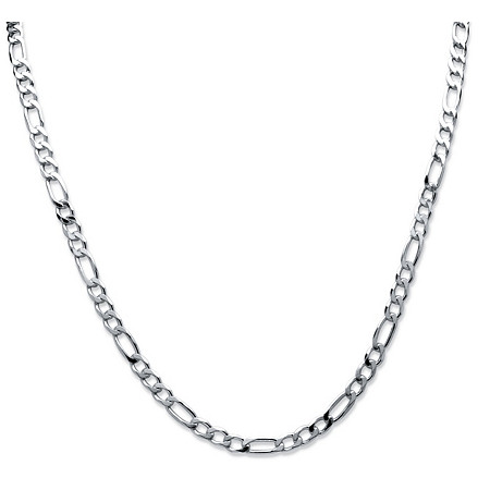 Figaro Link Chain in Sterling Silver 24
