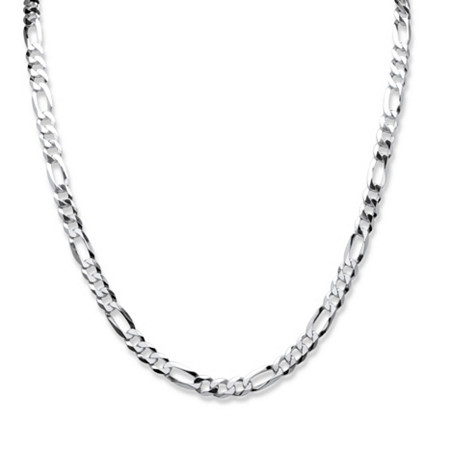 Figaro Link Chain in Sterling Silver 22