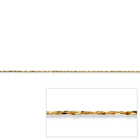Tornado Link Chain in 14k Gold 16