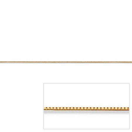 Venetian Box Link Chain in 14k Gold 24