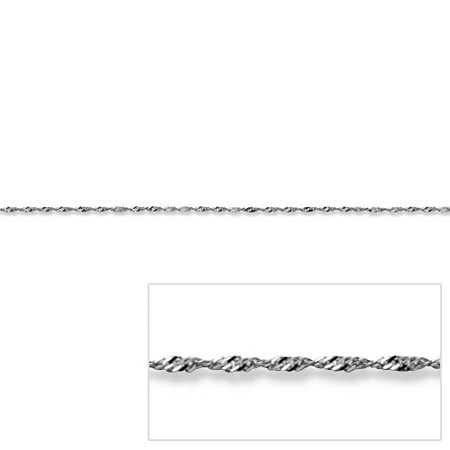 Singapore Link Chain in 14k White Gold 16