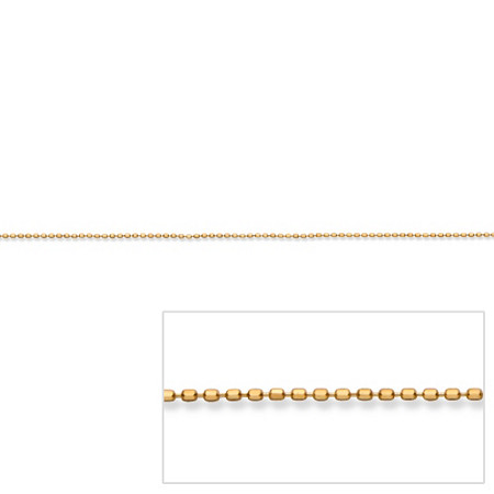 Beaded Chain in 14k Gold 18