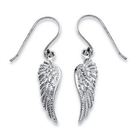 Wing Drop Earrings in Sterling Silver