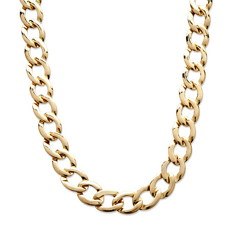 Curb Link Necklace in Yellow Gold Tone