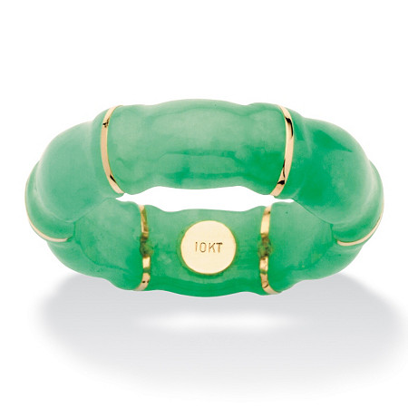 Jade Bamboo Ring in 10k Gold