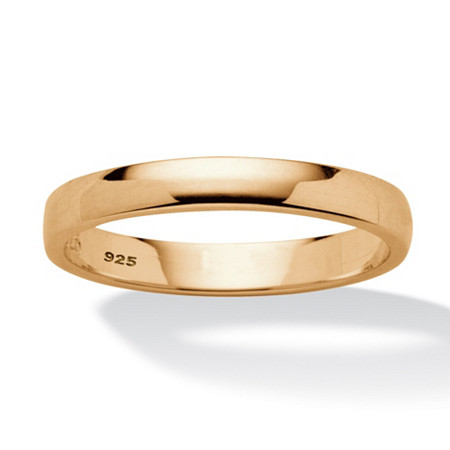 Wedding Ring in 18k Gold over Sterling Silver
