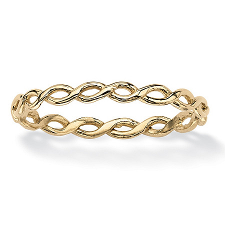 Twist Braid Ring in 10k Gold