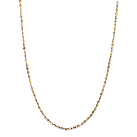 14k Yellow Gold 1.5mm Diamond-Cut Rope Chain 24