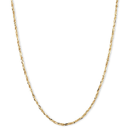 14k Yellow Gold Tornado-Link Chain 20