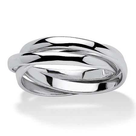 Sterling Silver Tri-Band Rolling Ring