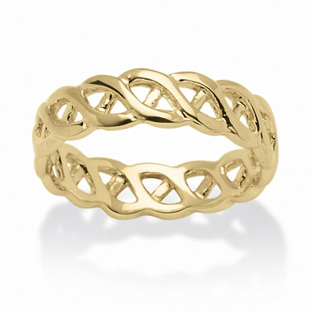 Braided Link Ring in 14k Gold-Plated