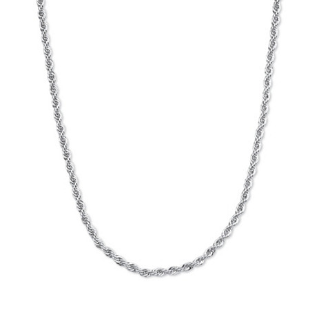 Sterling Silver 1.4 mm Rope Chain 18