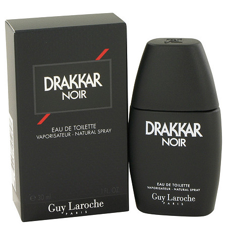 DRAKKAR NOIR by Guy Laroche for Men Eau De Toilette Spray 1 oz