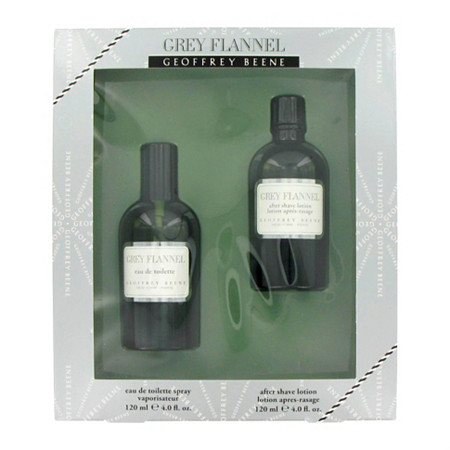 GREY FLANNEL by Geoffrey Beene for Men Gift Set -- 4 oz Eau De Toilette Spray + 4 oz After Shave