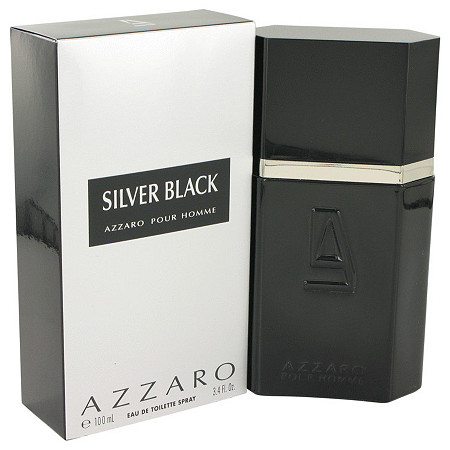 Silver Black by Loris Azzaro for Men Eau De Toilette Spray 3.4 oz
