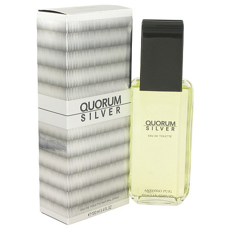 Quorum Silver by Puig for Men Eau De Toilette Spray 3.4 oz