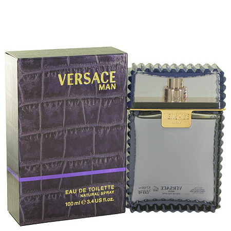 Versace Man by Versace for Men Eau De Toilette Spray 3.3 oz