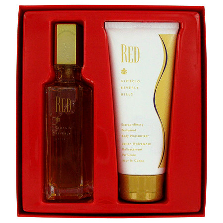 RED by Giorgio Beverly Hills for Women Gift Set -- 3 oz Eau De Toilette Spray + 6.8 oz Body Lotion