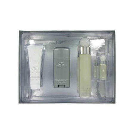 Perry Ellis 360 White by Perry Ellis for Men Gift Set -- 3.4 oz Eau De Toilette Spray + 2.75 Deodorant Stick + 3 oz After Shave Balm + .25 oz Mini EDT Spray