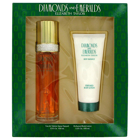DIAMONDS & EMERALDS by Elizabeth Taylor for Women Gift Set -- 3.3 oz Eau De Toilette Spray + 3.3 oz Body Lotion