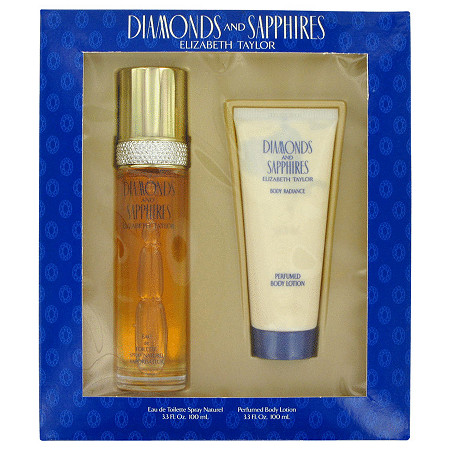DIAMONDS & SAPHIRES by Elizabeth Taylor for Women Gift Set -- 3.3 oz Eau De Toilette Spray + 3.3 oz Body Lotion