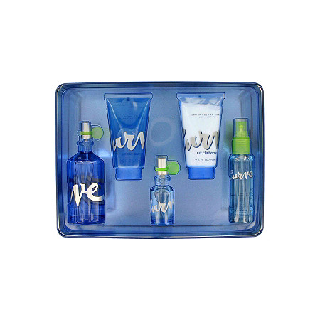 CURVE by Liz Claiborne for Women Gift Set -- 3.4 oz Eau De Toilette Spray + 2.5 oz Body Lotion + 2.5 oz Shower Gel +.5 oz Eau De Toilette Spray + 1.7 oz Body Mist