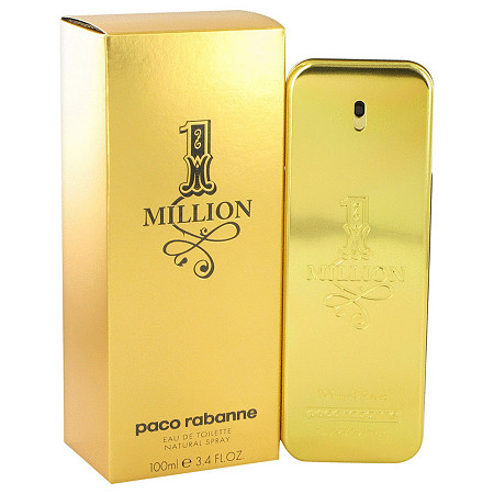 1 Million by Paco Rabanne for Men Eau De Toilette Spray 3.4 oz