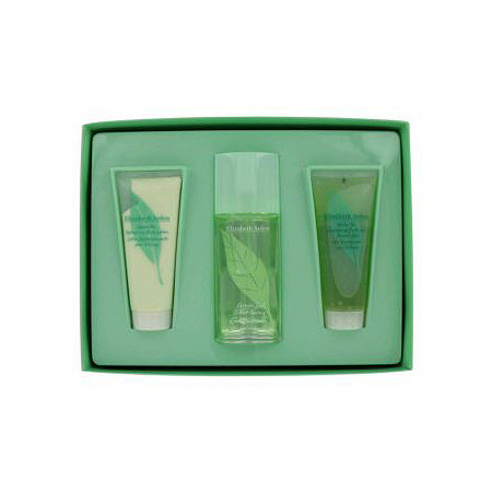 GREEN TEA by Elizabeth Arden for Women Gift Set -- 3.3 oz Scent Spray + 3.3 oz Body Lotion + 3.3 oz Bath and Shower Gel