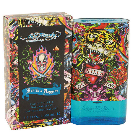 Ed Hardy Hearts & Daggers by Ed Hardy for Men Eau De Toilette Spray 3.4 oz