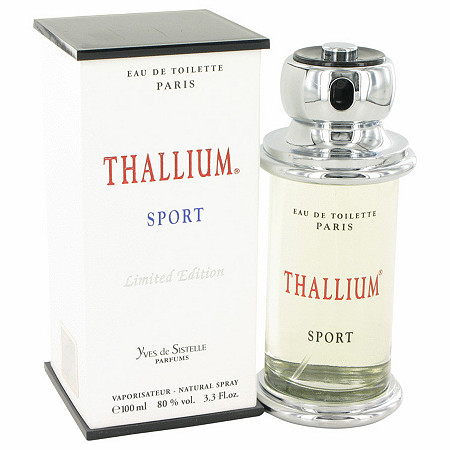 Thallium Sport by Parfums Jacques Evard for Men Eau De Toilette Spray (Limited Edituion) 3.4 oz