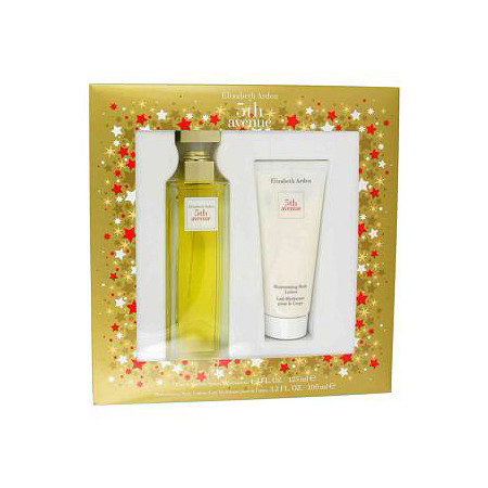 5TH AVENUE by Elizabeth Arden for Women Gift Set -- 4.2 oz Eau De Parfum Spray + 3.3 oz Body Lotion